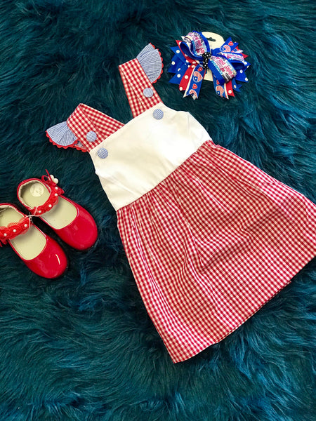 Adorable Red Plaid Summer Fun Dress - JEN'S KIDS BOUTIQUE