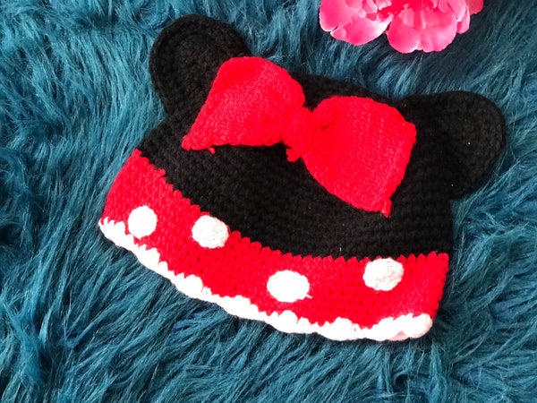 Minnie Mouse Beanie Hat - JEN'S KIDS BOUTIQUE