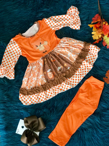 New Fall Fox On The Run Adorable Pant Set - JEN'S KIDS BOUTIQUE