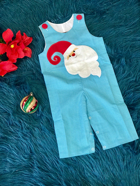 New Christmas Millie Jay Boys Santa Applique Longall - JEN'S KIDS BOUTIQUE
