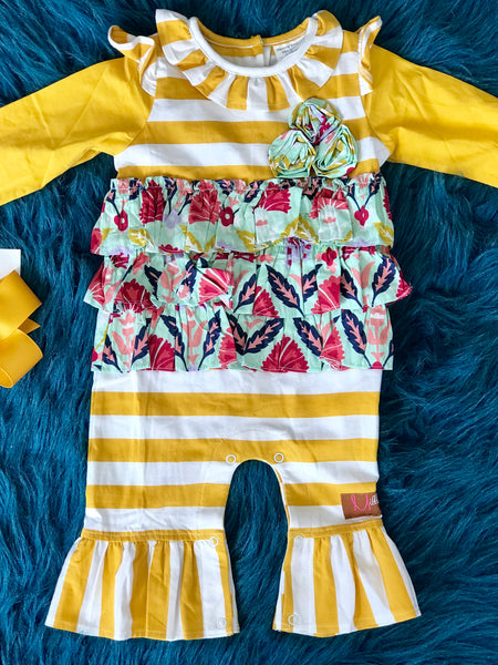 2018 Fall Millie Jay Moon Dust Infant Romper - JEN'S KIDS BOUTIQUE