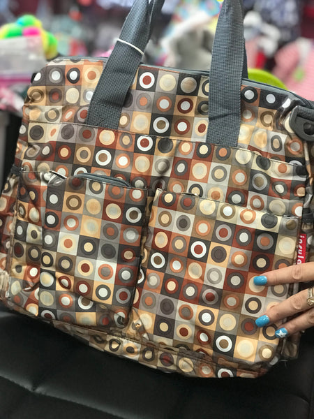 Adorables Colorful Silver And Gold Polka Dot  Diaper Bag - JEN'S KIDS BOUTIQUE