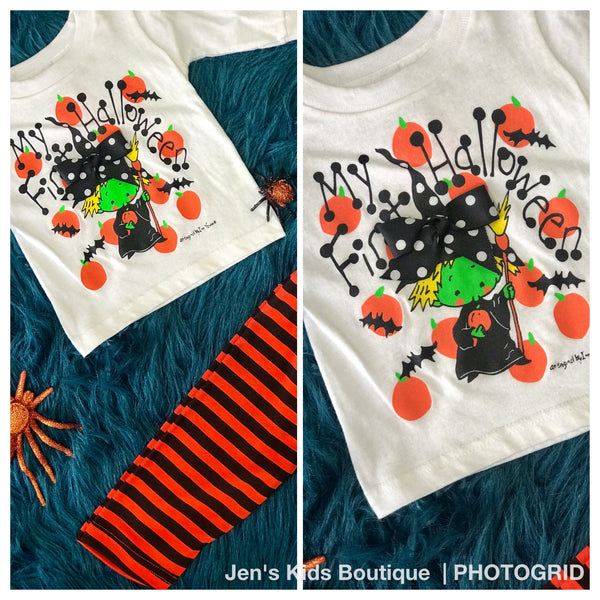 Im Yours First Halloween Shirt - JEN'S KIDS BOUTIQUE