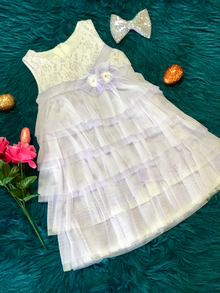 Isobella & Chloe Spring & Summer Lavender and Lace Easter Dress - JEN'S KIDS BOUTIQUE
