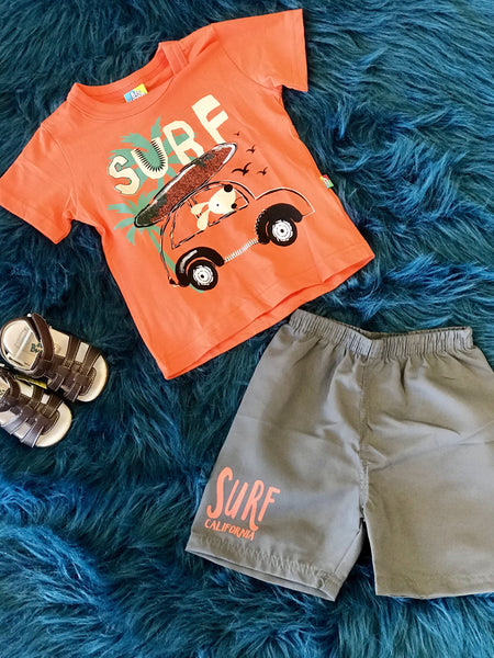 2018 Summer Boys Be Loop Surf Pup Shorts Set - JEN'S KIDS BOUTIQUE