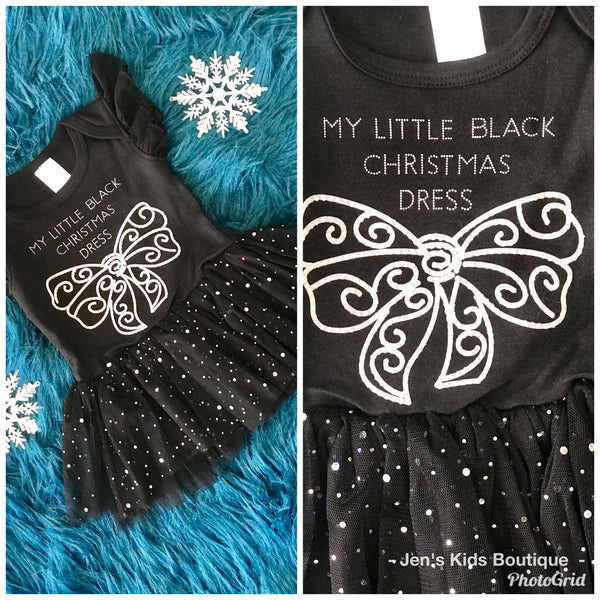 Christmas My Little Black Christmas Dress - JEN'S KIDS BOUTIQUE