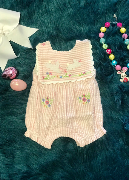 Spring Cotton Kids Easter Bunny Infant Bubble Romper - JEN'S KIDS BOUTIQUE