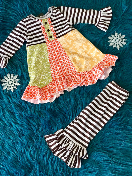Fall Sassy Me Fall Fun Ruffle Pant Set - JEN'S KIDS BOUTIQUE