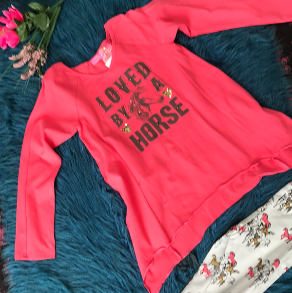 Havengirl Coral Loved By A Horse - JEN'S KIDS BOUTIQUE