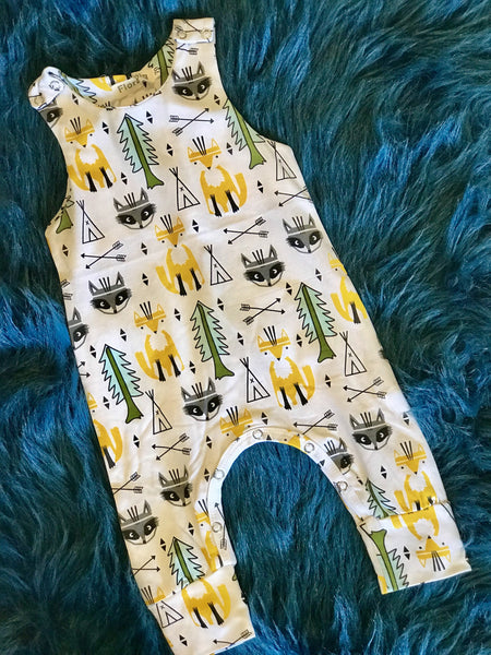 2018 Summer Infant Baby Boy Fox Romper Sleeveless Sunsuit - JEN'S KIDS BOUTIQUE