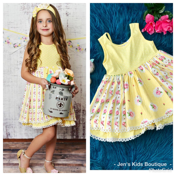 2019 Swoon Baby Spring Buttercup Easter Dress. - JEN'S KIDS BOUTIQUE