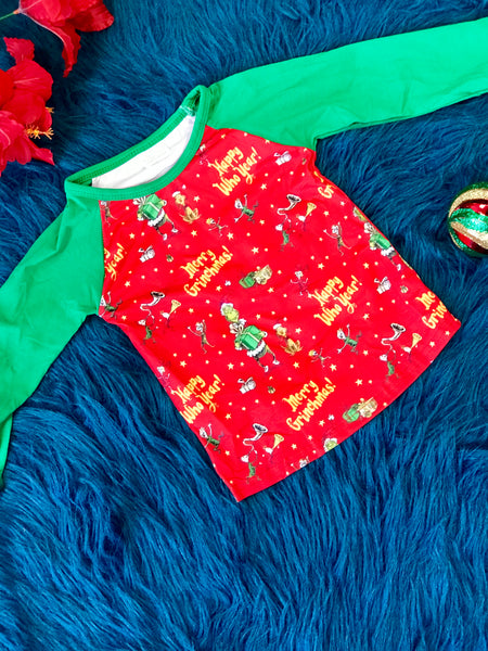 New Christmas Its A Grinch's Merry Christmas Shirt C - JEN'S KIDS BOUTIQUE