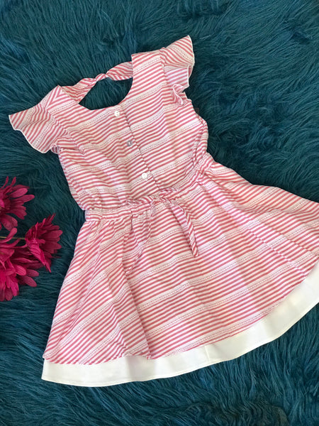 Mable & Honey Stripped Button Down The Front Dress - JEN'S KIDS BOUTIQUE