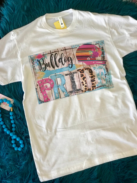 Fall Fun Cheetah Print Bulldog Mom T-Shirt - JEN'S KIDS BOUTIQUE