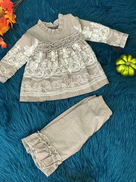 Fall Isobella & Chloe Vintage Gracie Two Piece Set - JEN'S KIDS BOUTIQUE