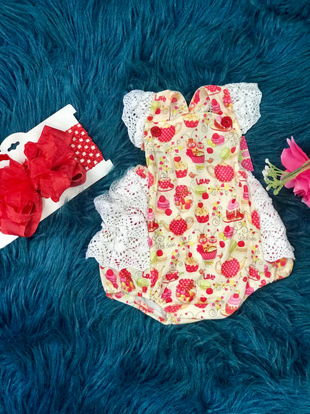 2019 Spring & Summer Sweet Treats Infant Ruffle Bubble - JEN'S KIDS BOUTIQUE