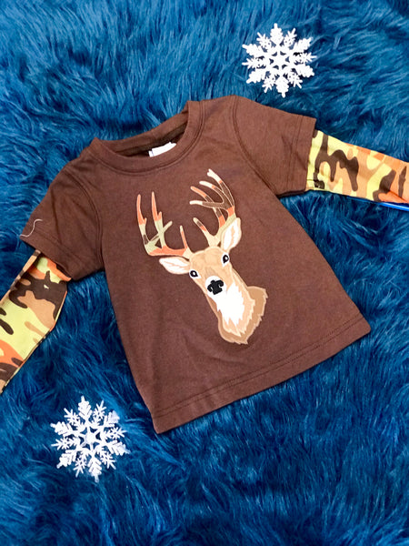 Walley & Willie Boys Camo Deer Shirt - JEN'S KIDS BOUTIQUE