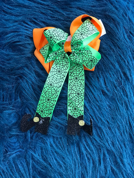 New Halloween Witch Feet Fun Hair Bow - JEN'S KIDS BOUTIQUE
