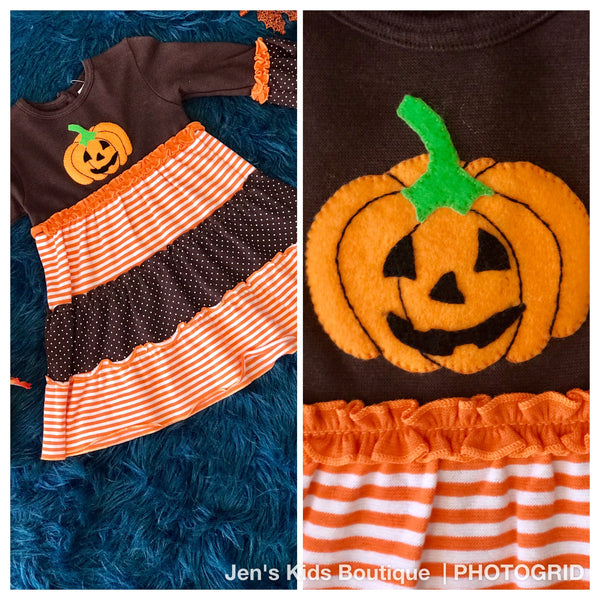 Baby Luigi Halloween Pumpkin Dress - JEN'S KIDS BOUTIQUE