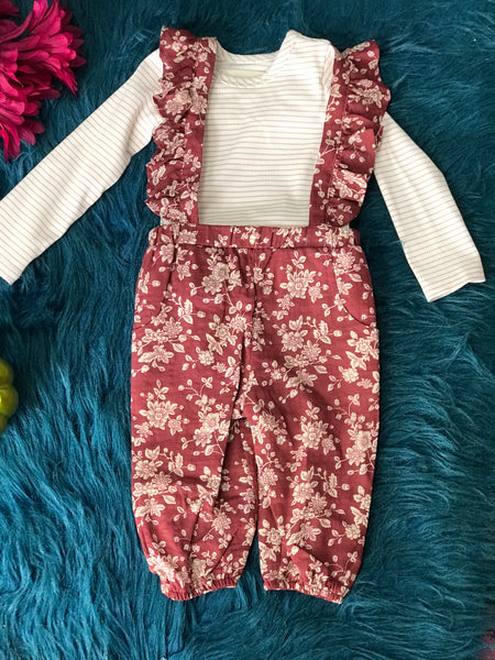 Mable & Honey By Isobella & Chloe Maie Burgundy Jumper Set - JEN'S KIDS BOUTIQUE