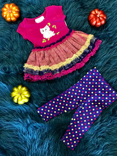 Fall Purple Owl TuTu Pant Set - JEN'S KIDS BOUTIQUE