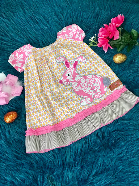 Millie Jay Hip Hop Bunny Easter Fun Dress - JEN'S KIDS BOUTIQUE