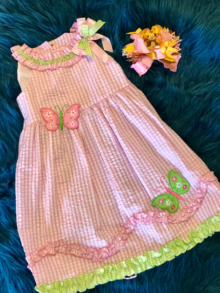 Spring Fun Pink Butterfly Dress - JEN'S KIDS BOUTIQUE