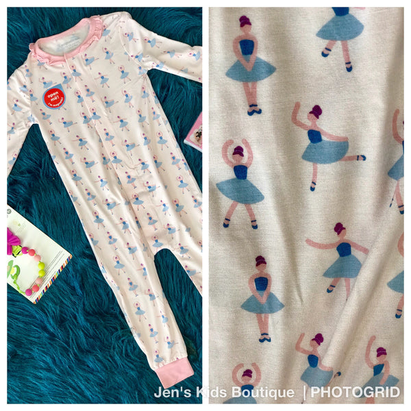 New Baby Magnetic Me Prima Ballerina Magnetic Coverall - JEN'S KIDS BOUTIQUE