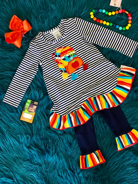2018 School Colorful Fun Backpack Pant Set - JEN'S KIDS BOUTIQUE