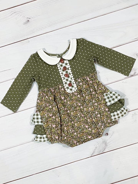 Swoon By Serendipity Fall Charlotte Picot Petal Ruffle Infant Bubble - JEN'S KIDS BOUTIQUE