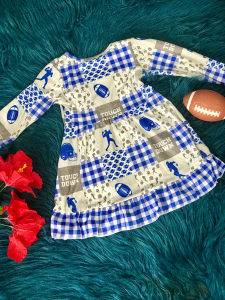 New Fall Football Long Sleeve Dress - JEN'S KIDS BOUTIQUE