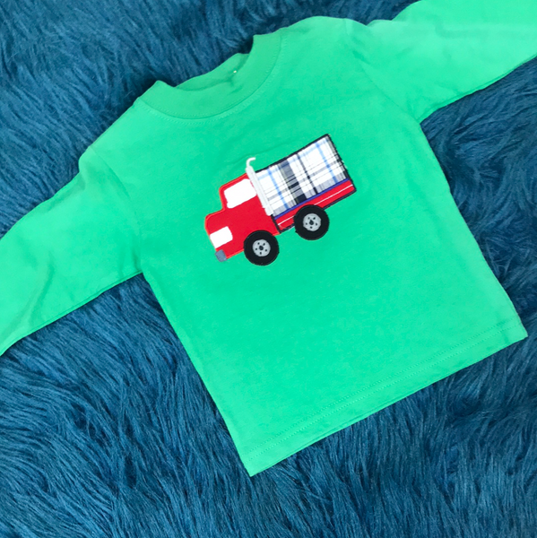 Baby Luigi Green Truck Shirt - JEN'S KIDS BOUTIQUE
