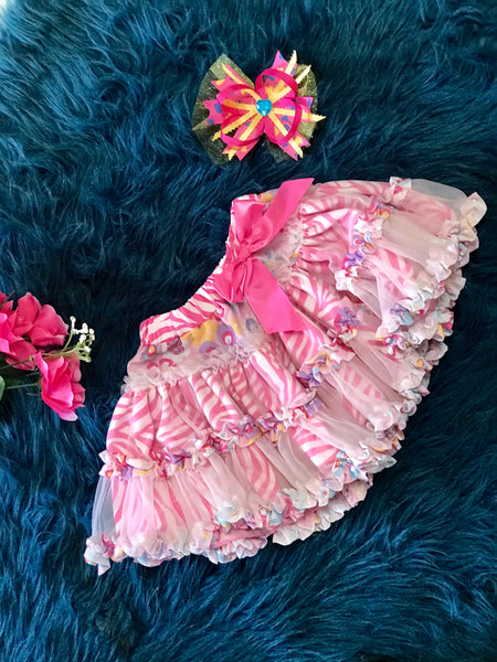 Beautiful Pink Mixed Cheetah TuTu - JEN'S KIDS BOUTIQUE