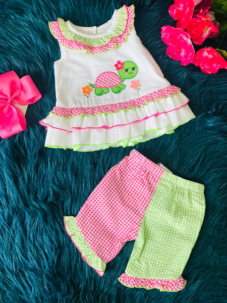 Spring Fun Adorable Turtle Carpi Set CLS - JEN'S KIDS BOUTIQUE