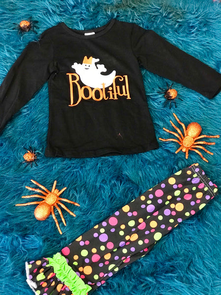 New Halloween Bootiful Ghost Polk Dot Set - JEN'S KIDS BOUTIQUE