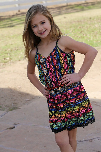 Spring Kids Crochet Mixed Colors  Designer Girls Romper - JEN'S KIDS BOUTIQUE