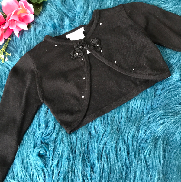 Bonnie Jean Black Half Sweater - JEN'S KIDS BOUTIQUE