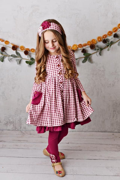 Swoon By Serendipity Fall Charleston Willow Pocket Dress Set - JEN'S KIDS BOUTIQUE
