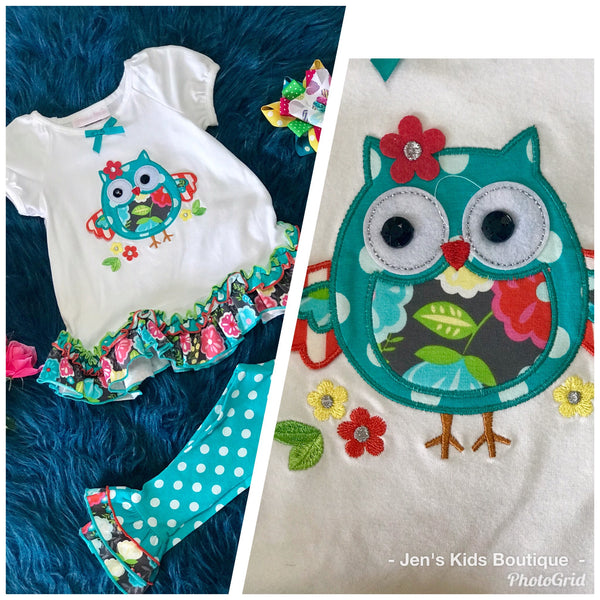 Colorful & Fun Spring Owl Set - JEN'S KIDS BOUTIQUE