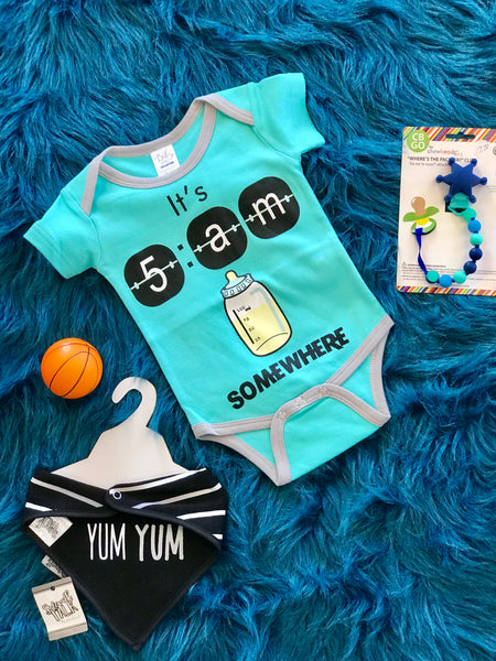 2018 Spring Boys Onesie Its 5 O Clock Somewhere - JEN'S KIDS BOUTIQUE