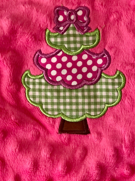 Three Sisters Christmas Girls Ruffle O Christmas Tree Minky Infant Romper CH - JEN'S KIDS BOUTIQUE