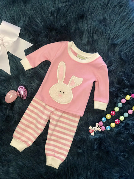 Be Mine Pink Hunny Bunny Easter Pjs - JEN'S KIDS BOUTIQUE