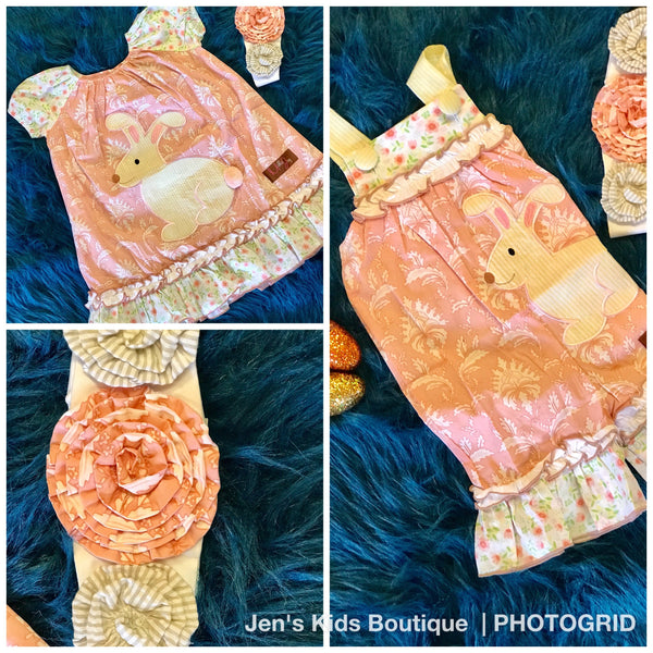 2018 Spring Millie Jay Bunny A-Line Dress - JEN'S KIDS BOUTIQUE