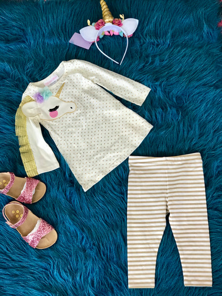 2018 Fall Applique Unicorn Pant Set - JEN'S KIDS BOUTIQUE