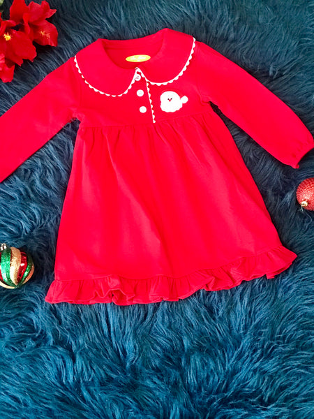 New Christmas Be Mine Adorable Red Santa's Princess Gown C - JEN'S KIDS BOUTIQUE