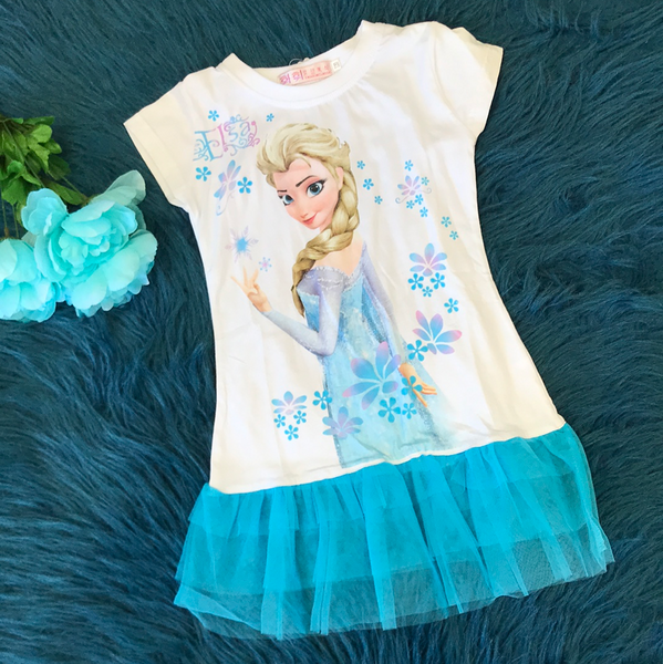 Frozen Elsa Shirt w/ Blue Tulle Lining CLS