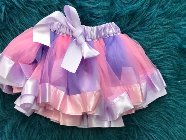 Pastel Pink & Purple TuTu - JEN'S KIDS BOUTIQUE