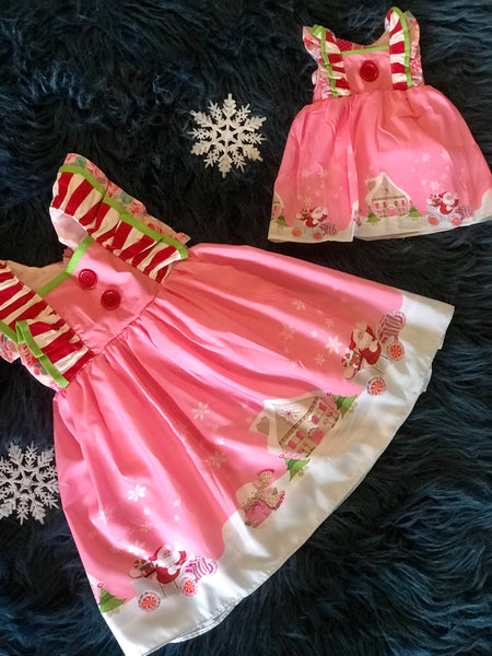 "Perfect Christmas In Pink Princess Mary Kate Sleeveless 18""Doll Dress - JEN'S KIDS BOUTIQUE"
