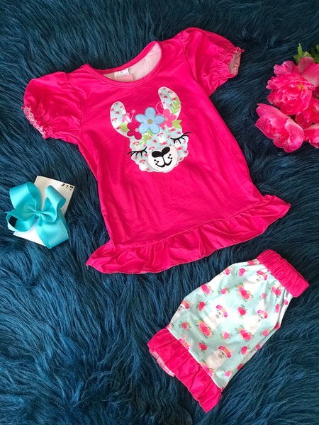 Summer Sweet Pink Lama Shorts Set - JEN'S KIDS BOUTIQUE