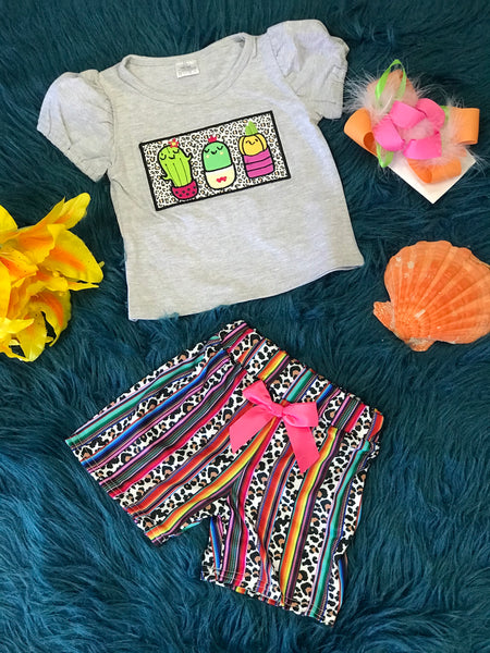 Summer Fun Cactus & Leopard Print Set - JEN'S KIDS BOUTIQUE